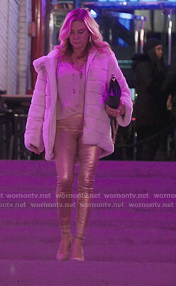 Ramona's pink metallic jeans on The Real Housewives of New York City