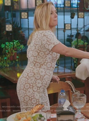 Ramona's white lace jumpsuit on The Real Housewives of New York City