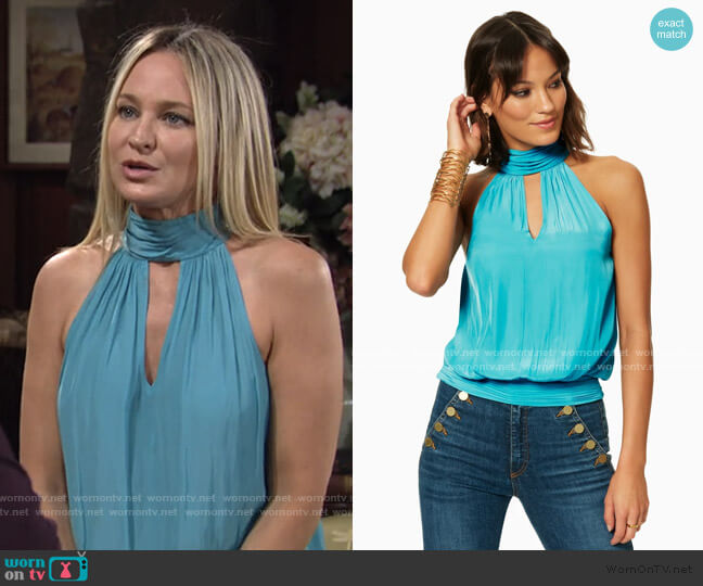 Victoria Top by Ramy Brook worn by Sharon Collins (Sharon Case) on The Young & the Restless