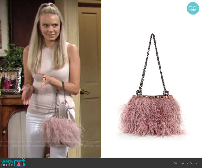 Rebecca Minkoff Ruby Ostrich Feather Bag worn by Abby Newman (Melissa Ordway) on The Young & the Restless