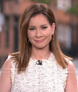 Rebecca's white tweed dress on Good Morning America