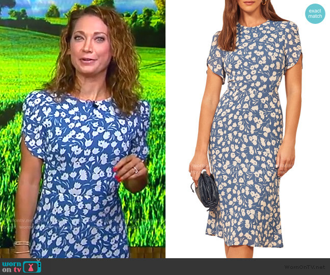 Andre Dress by Reformation worn by Ginger Zee  on Good Morning America