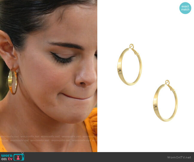 Rue Gembon Chavez Earrings worn by Selena Gomez  on Selena + Chef