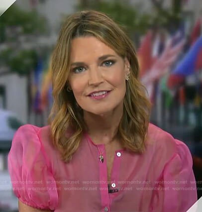 Savannah's pink organza blouse on Today