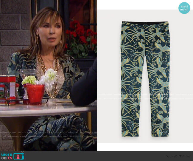 Textured Jacquard Trousers by Scotch & Soda worn by Kate Roberts (Lauren Koslow) on Days of our Lives