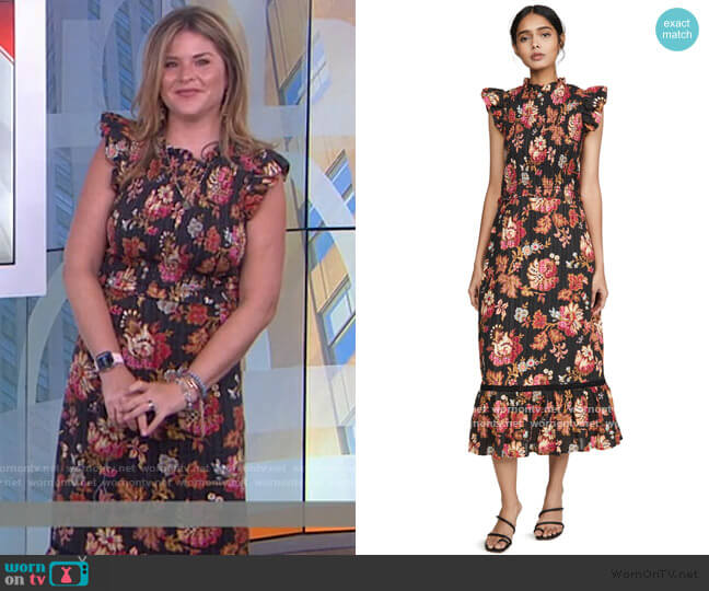 Pascale Midi Dress by Sea worn by Jenna Bush Hager  on Today