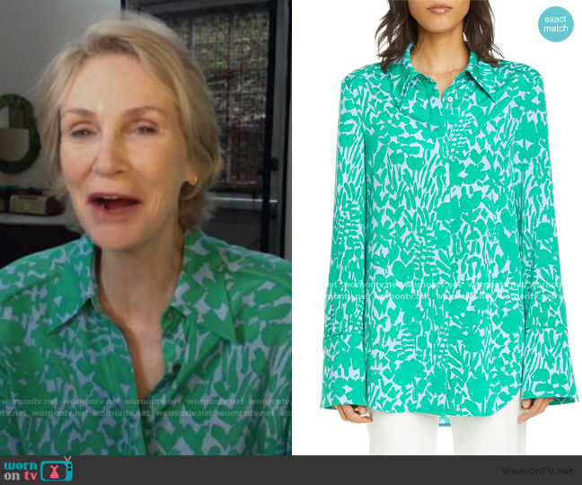 Floral Markings Print Shirt by St. John worn by Jane Lynch on Today Show