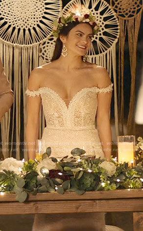 Tala's wedding dress on Palm Springs