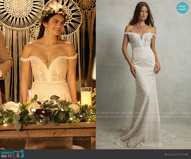 Tara Lauren Parker Gown worn by Tala (Camila Mendes) on Palm Springs (2020)
