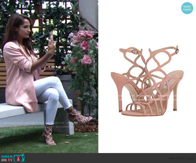 Teagen Sandals in Blush by Steve Madden worn by Lily Winters (Christel Khalil) on The Young & the Restless