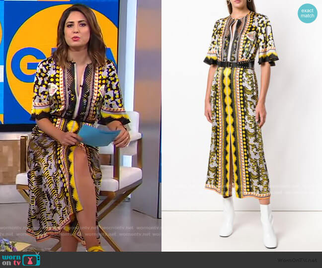 Odyssey Midi Dress by Temperley London worn by Cecilia Vega  on Good Morning America