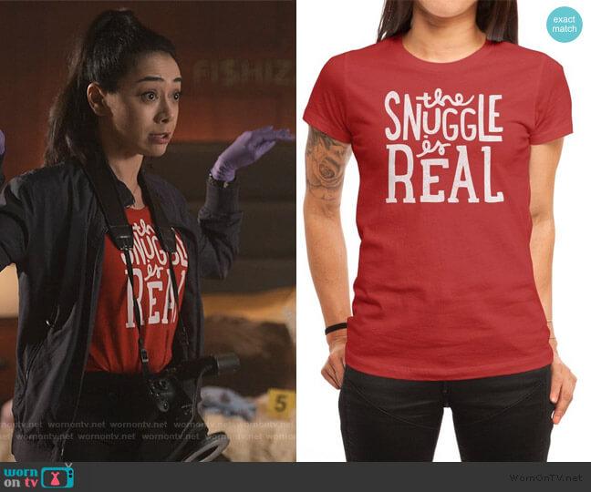 The Snuggle is Real Tee by Jack at Threadless worn by Ella Lopez (Aimee Garcia) on Lucifer