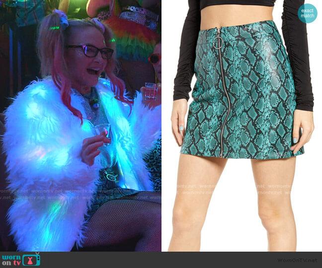 Tash Miniskirt by Tiger Mist worn by Linda Martin (Rachael Harris) on Lucifer