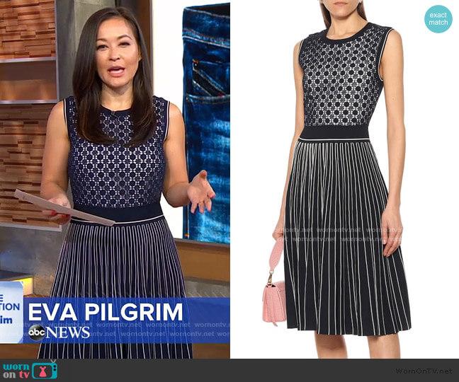 Cotton-blend Jacquard Midi Dress by Tory Burch worn by Eva Pilgrim  on Good Morning America
