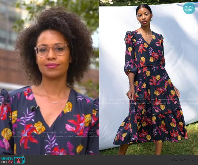 Jordan Dress by Tucker worn by Adrienne Bankert  on Good Morning America