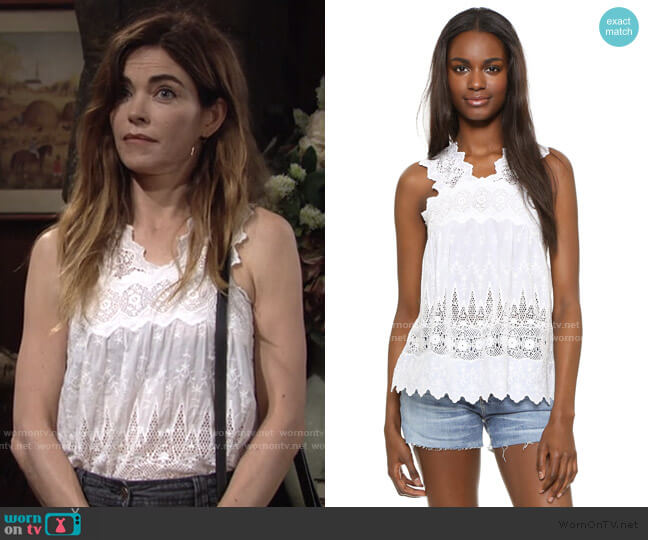 Birdie Blouse by Ulla Johnson worn by Victoria Newman (Amelia Heinle) on The Young & the Restless