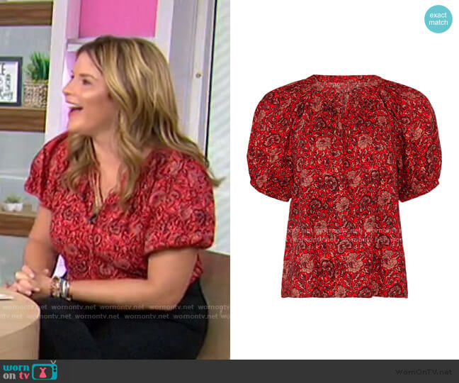Evie Blouse by Ulla Johnson worn by Jenna Bush Hager  on Today