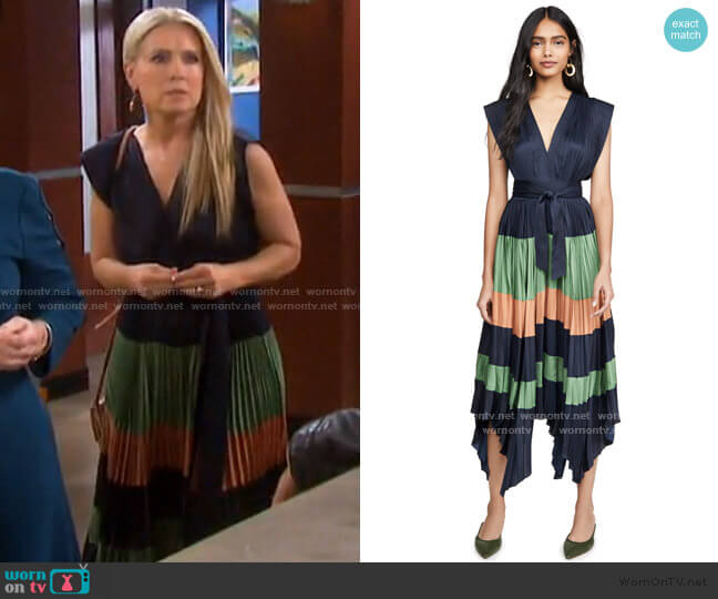 Maysha Dress by Ulla Johnson worn by Jennifer Horton (Melissa Reeves) on Days of our Lives