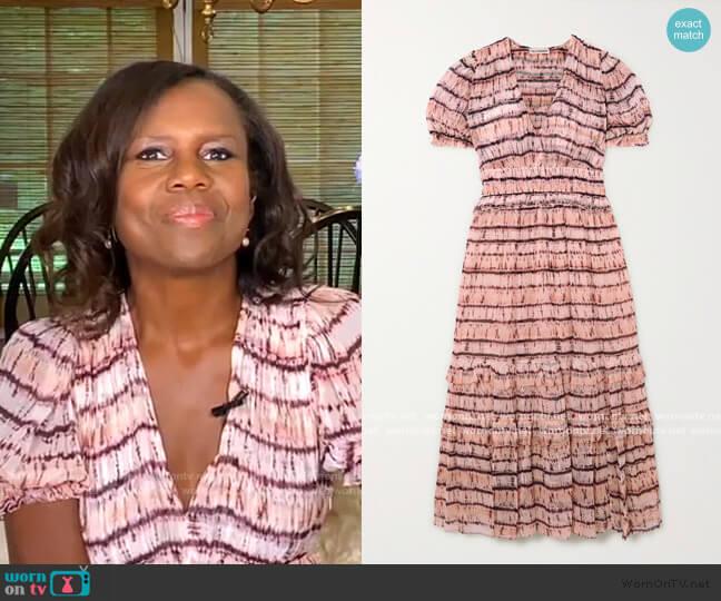 Elodie Tie-Dyed Maxi Dress by Ulla Johnson worn by Deborah Roberts  on Good Morning America