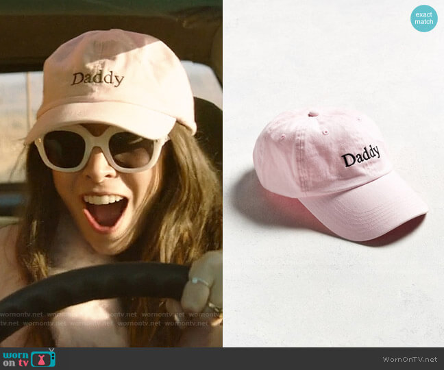 Urban Outfitters Daddy Baseball Hat in Rose worn by Sarah (Cristin Milioti) on Palm Springs (2020)