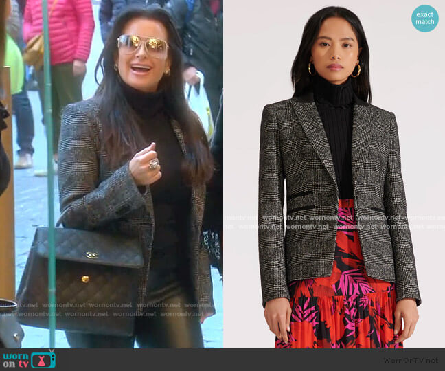 Gia Dickey Jacket by Veronica Beard worn by Kyle Richards  on The Real Housewives of Beverly Hills