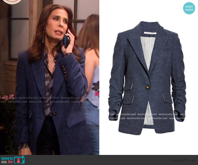 Martel Herringbone Dickey Jacket by Veronica Beard worn by Hope Williams (Kristian Alfonso) on Days of our Lives