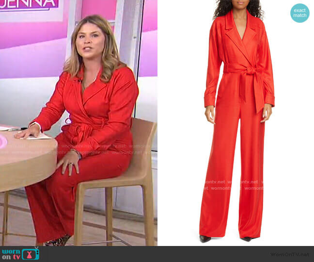 Lionel Wide Leg Jumpsuit by Veronica Beard worn by Jenna Bush Hager  on Today
