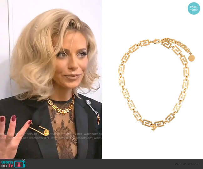 Greca Necklace by Versace worn by Dorit Kemsley  on The Real Housewives of Beverly Hills