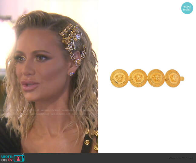 Medusa Motif Hair Pin by Versace worn by Dorit Kemsley  on The Real Housewives of Beverly Hills