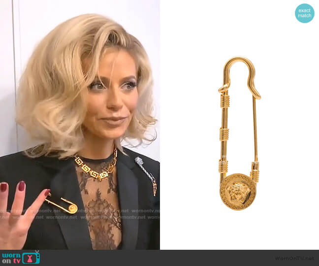 Medusa Safety Pin Brooch by Versace worn by Dorit Kemsley  on The Real Housewives of Beverly Hills