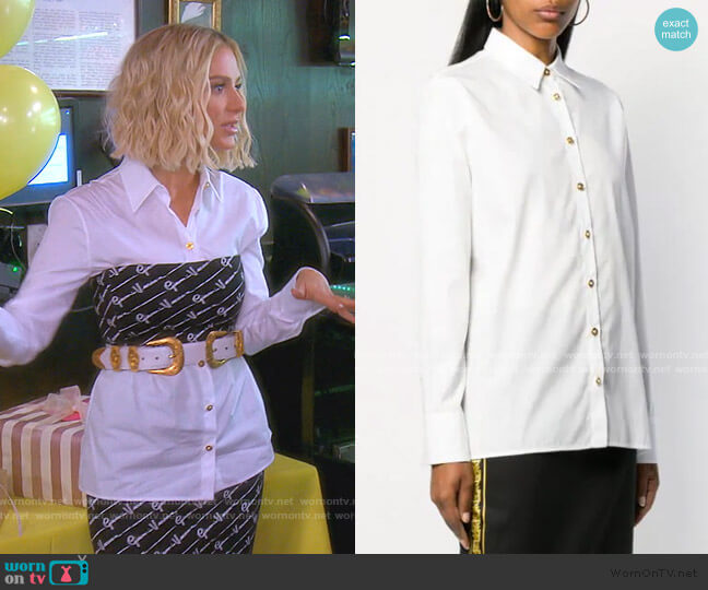 Button-Down Shirt by Versace worn by Dorit Kemsley  on The Real Housewives of Beverly Hills