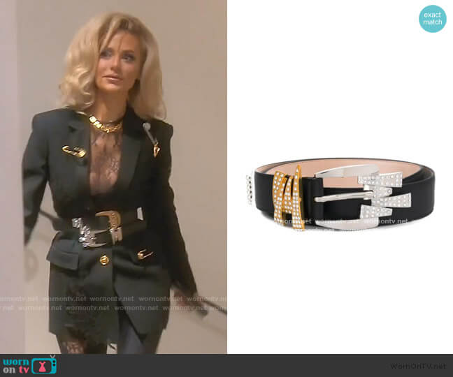 Embellished Belt by Versace worn by Dorit Kemsley  on The Real Housewives of Beverly Hills