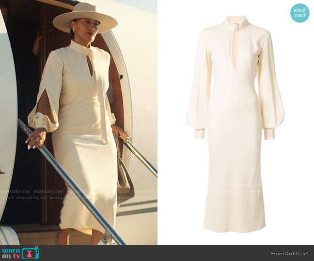Victoria Beckham Midi Dress with Front Slit worn by Grace Davis (Tracee Ellis Ross) on The High Note