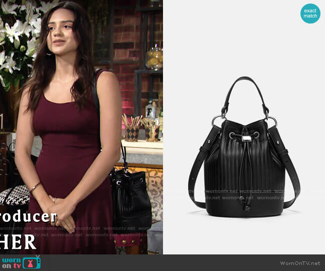 Zara Quilted Mini Bag worn by Lola Rosales (Sasha Calle) on The Young & the Restless