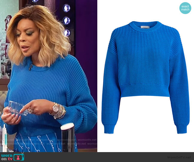 Jeremy Cropped Sweater by A.L.C. worn by Wendy Williams  on The Wendy Williams Show