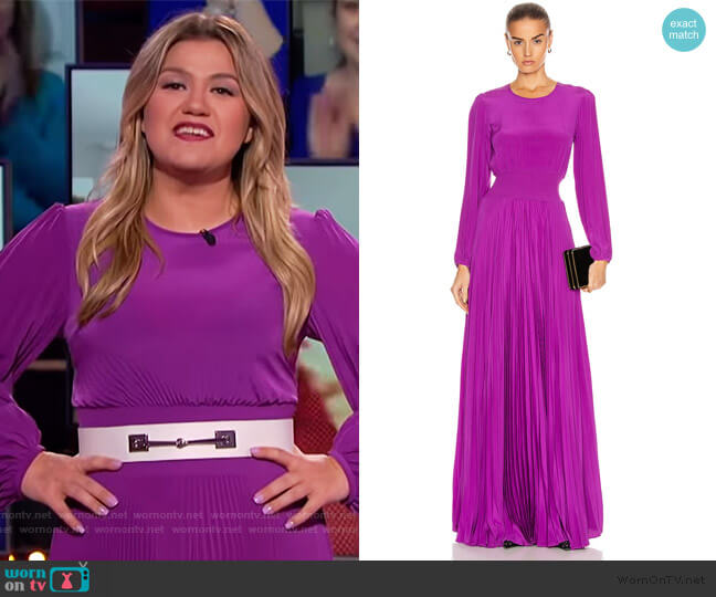Leah Dress by A.L.C. worn by Kelly Clarkson  on The Kelly Clarkson Show