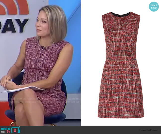 Tweed Sheath Dress by Adam Lippes Collective worn by Dylan Dreyer  on Today