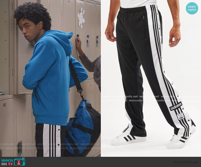 Adibreak Snap Button Pants by Adidas worn by Odiseas Georgiadis on Trinkets