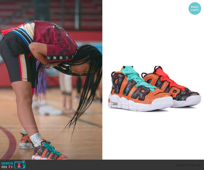Air More Uptempo What The 90s Sneakers by Nike worn by Flynn (Jadah Marie) on Julie & the Phantoms