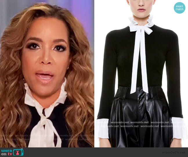 Cornelia Tie Neck Pullover by Alice + Olivia worn by Sunny Hostin  on The View