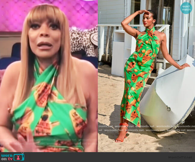 Jardin Wrap Dress by Aliette worn by Wendy Williams on E! News