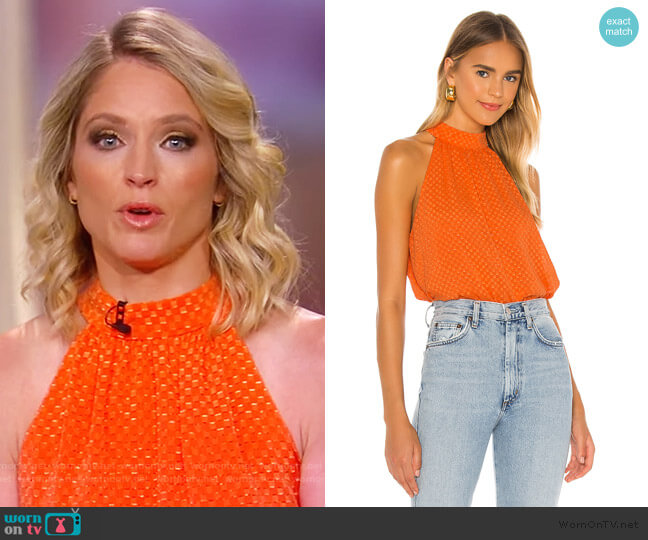 Liana Geometric Top by Alice + Olivia worn by Sara Haines  on The View