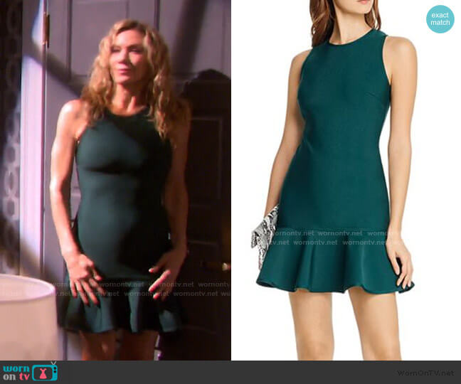 Ruffled Body-Con Dress by Aqua worn by Kristen DiMera (Stacy Haiduk) on Days of our Lives