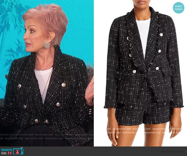 Tweed Blazer by Aqua worn by Sharon Osbourne  on The Talk