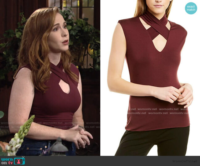 Martina Top by Bailey 44 worn by Mariah Copeland (Camryn Grimes) on The Young & the Restless