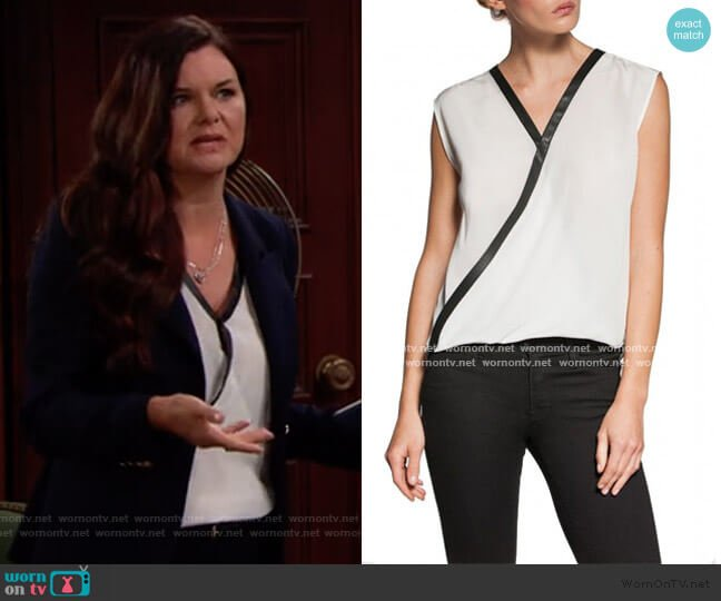 Contrast Trim Top by Bailey 44 worn by Katie Logan (Heather Tom) on The Bold & the Beautiful