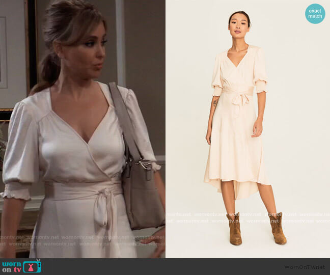 Game Wrap Dress by Ba&sh worn by Olivia Falconeri (Lisa Lo Cicero) on General Hospital