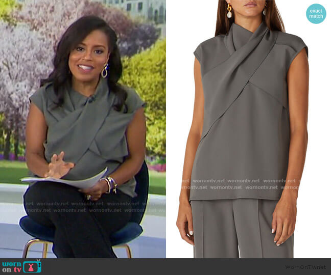 Ensor Draped Twill Top by Beaufille worn by Sheinelle Jones  on Today