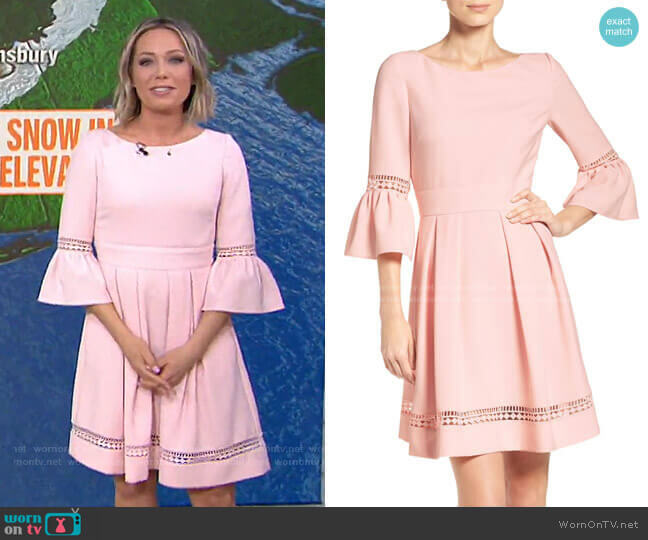 Bell Sleeve Fit & Flare Dress by Eliza J worn by Dylan Dreyer  on Today