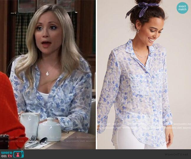 Hipster Shirt by Bella Dahl worn by Lulu Spencer Falconeri (Emme Rylan) on General Hospital